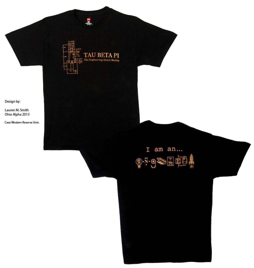 Design t shirt civil engineering - Tau Beta Pi Gold Black Tshirt