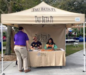 FL Iota student TBP booth
