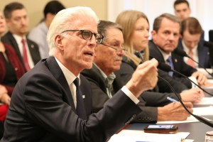 Testifying before Congress: Also appearing before the 2019 subcommittee were Ted Danson who is a board member of Oceana, an international advocacy organization dedicated solely to ocean conservation; Juan Parras, founder of the Texas Environmental Justice Advocacy Services; Dr. Jambeck; and Tony Radoszewski, President and CEO of Plastics Industry Association.